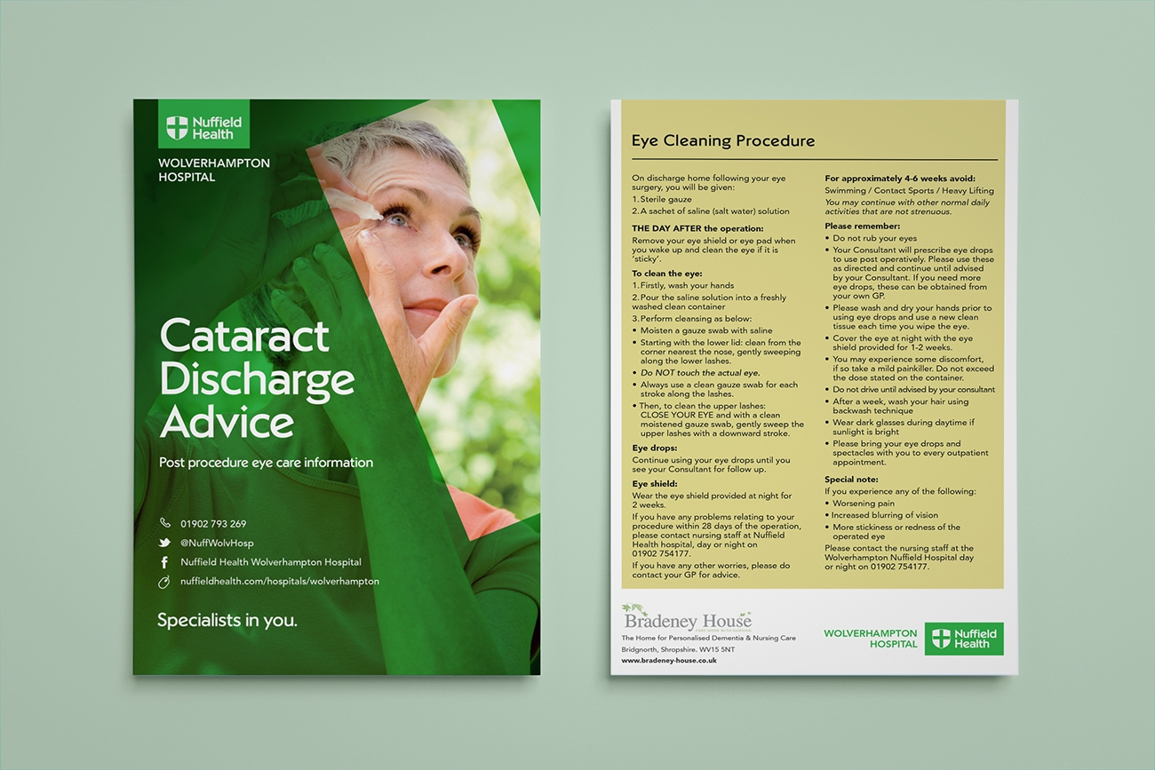 Brochure Design Healthcare Birmingham Nuffield