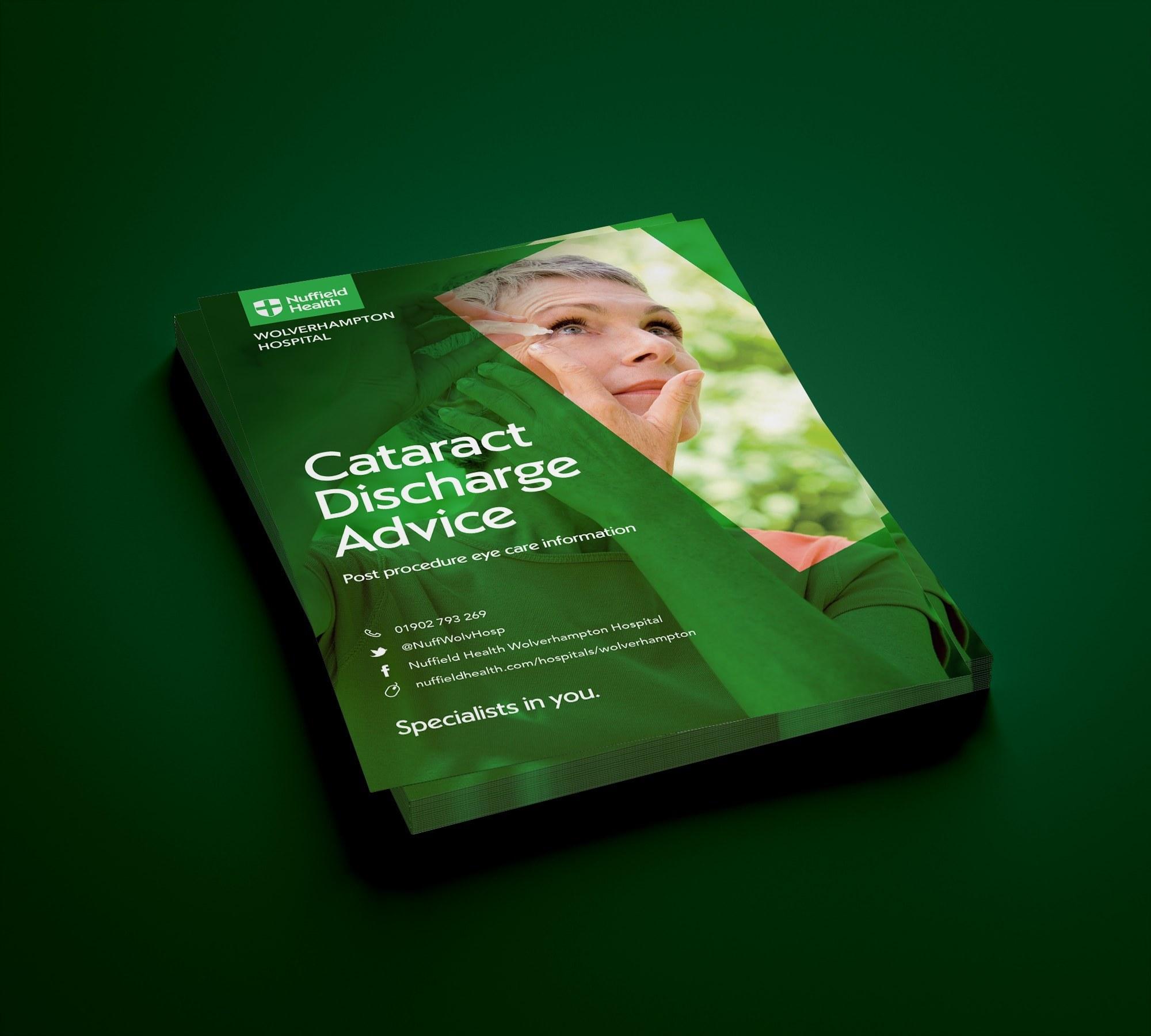 Healthcare leaflet booklet design Wolverhampton Nuffield