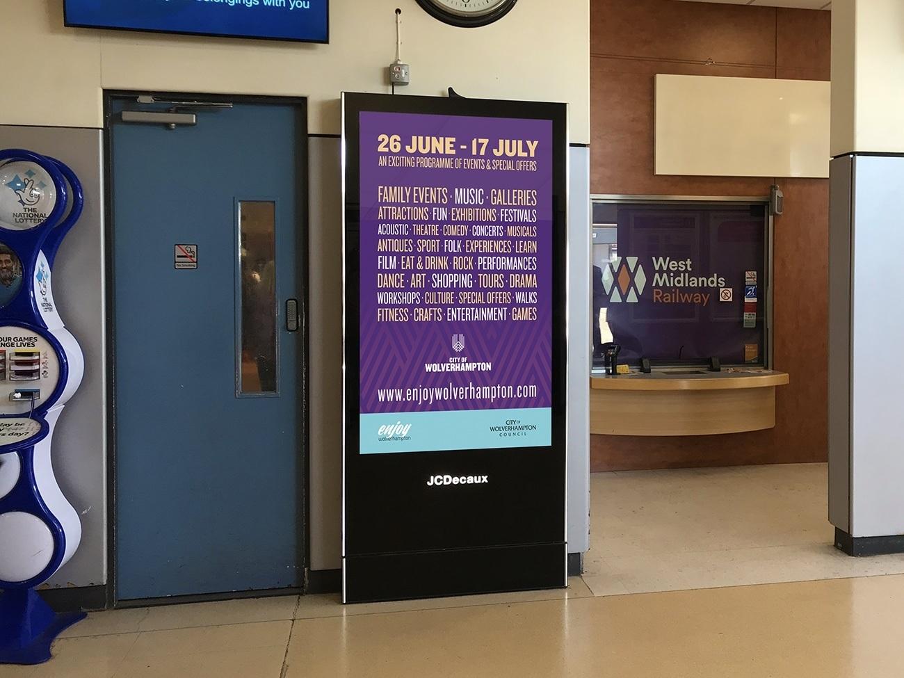 City of Wolverhampton Council JCDecaux Digital Advertising