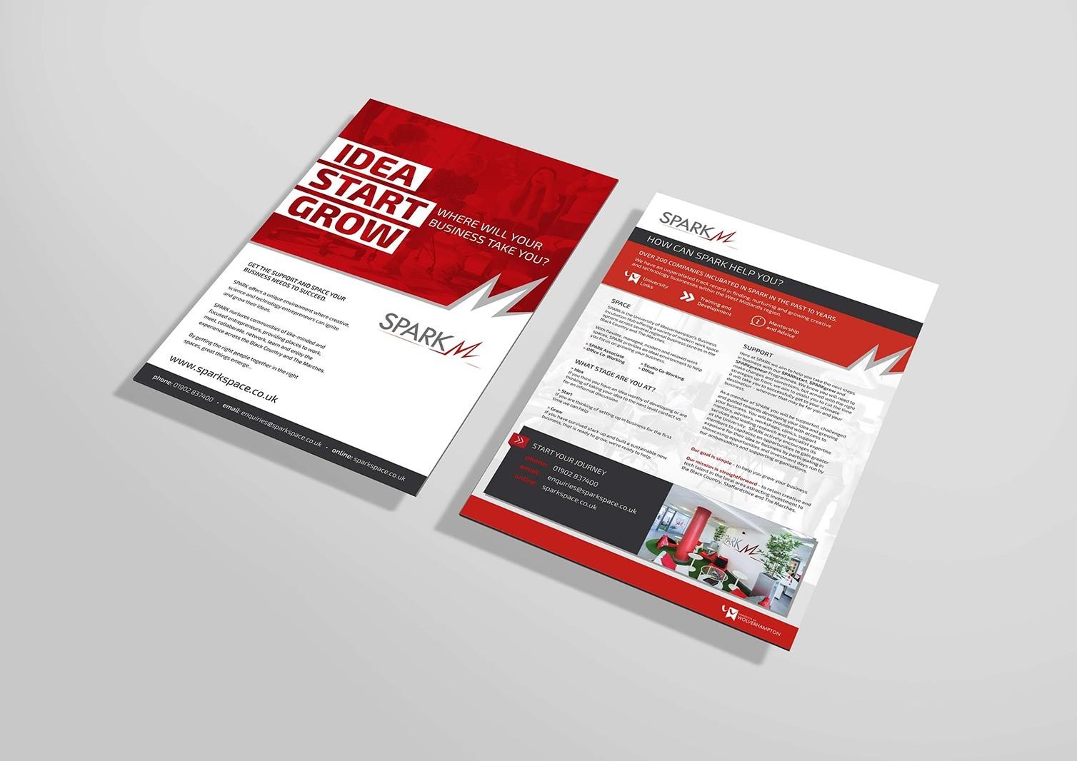Spark Wolverhampton Marketing Leaflet Design