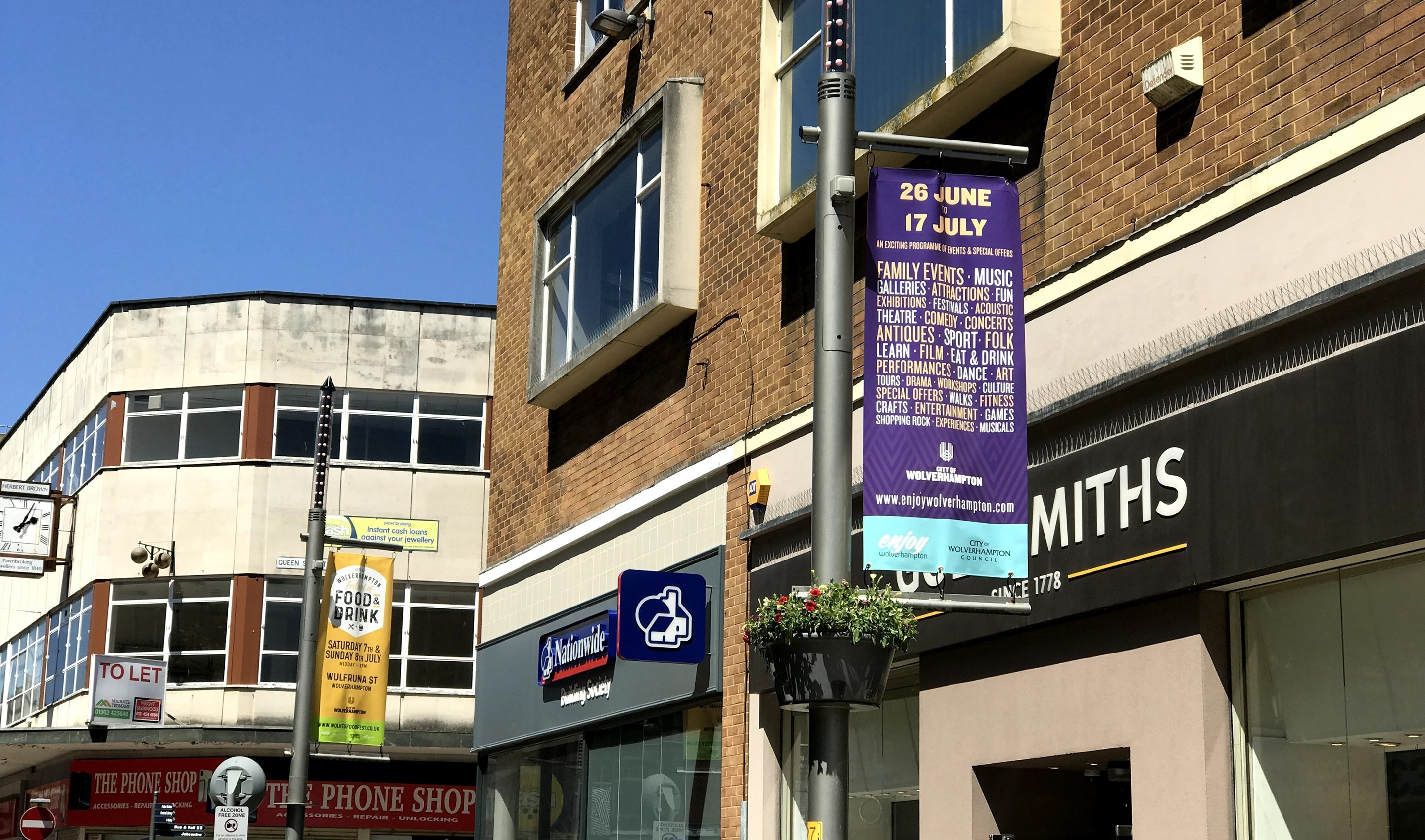 Wolverhampton City Council Advertising Street Signage Banners
